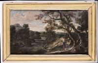 paesaggio con pastore by antonio francesco peruzzini