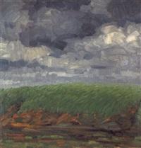 feld unter sturmwolken by gustav a.h. rau