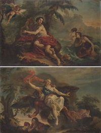 allegoria della fama; apollo e le ninfe (pair) by french school (18)