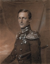 portrait of grand duke konstantin nikolaevich by franz krüger