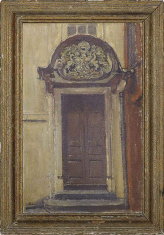 porch entrance to merchant taylor court brighton by paul ayshford methuen