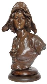 buste d'une jeune femme à la coiffe by alphonse henry nelson