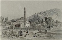 the kavak meydan, boz tepe beyond, trebizond, turkey by jules (joseph augustin) laurens