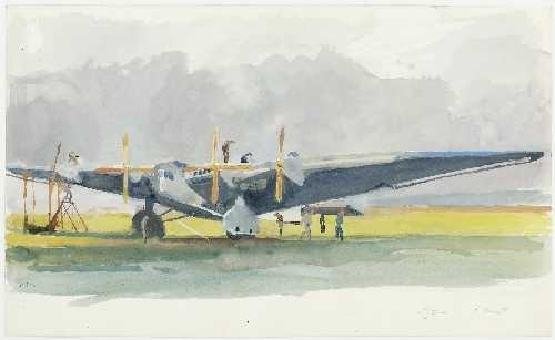 G 38 Viermotorige Dornier Propellermaschine By Heinrich Kley On Artnet
