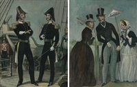 les mondes parisienne, 1844 and the officers, 1848 (2 works) by dorothy kay