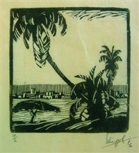 some woodcuts (bk w/20 works & text by wallace paton and maurice guillemot) by clément (joseph charles louis) sénèque