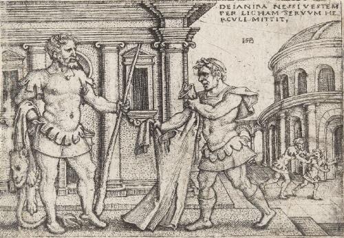 herkules trägt die säulen von gaza 3 others 4 works from die taten des herkules by hans sebald beham