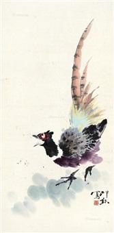 雉鸡 镜心 设色纸本 by xiao lang