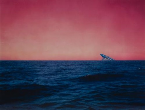 untitled (seascape with monument) by florian maier-aichen