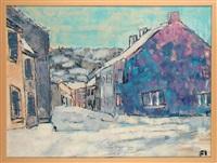 un village en hiver by pierre fievet