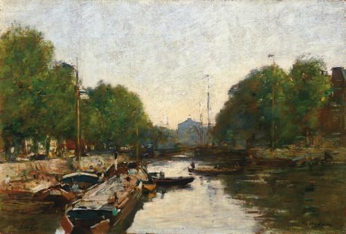 canal à rotterdam by eugène boudin