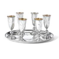 a liqueur set (set of 7) by vasili semenov and i.f. sapogov