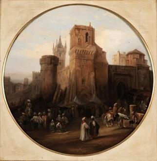 mercado árabe by genaro perez villaamil