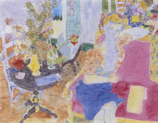 intérieur au guéridon by raymond legeult
