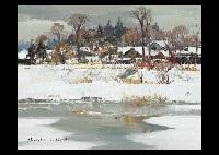 waterside in winter by shoichiro nushi