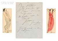 studies of isadora duncan (2 works) by abraham walkowitz