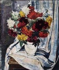blumenstrauß in einer vase by nicolaus sagrekov