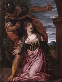 das martyrium der heiligen lucia von padua by carletto carliari