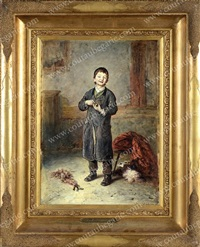 portrait d'un petit garçon juif by stephan fedorovich alexandrovski