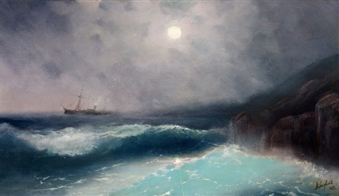 moonlight by ivan konstantinovich aivazovsky