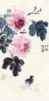花鸟 镜心 设色纸本 by xiao lang