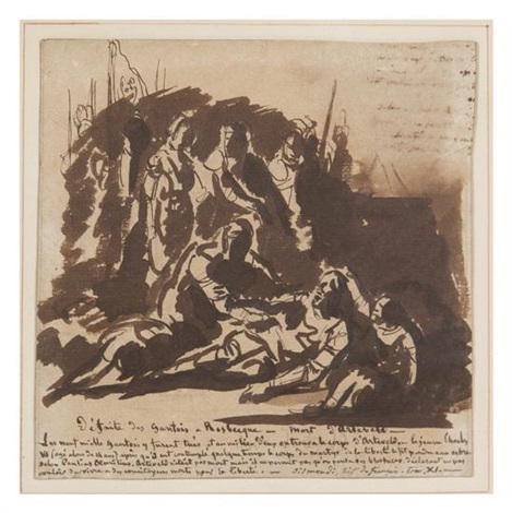 study for defaite des gantois a rosbecque morte dartevelt by paul hippolyte delaroche