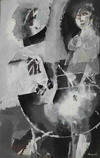 donna seduta (composizione in bianco e nero) by marcello avenali
