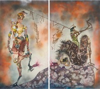 my strength lies (in 2 parts) by wangechi mutu