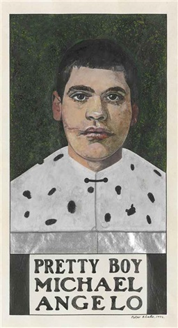 pretty boy michael angelo by peter blake