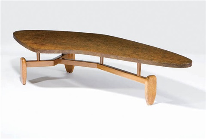 Biomorphic coffee table by John Keal on artnet