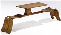 table with integrated bench seats by federico armijo