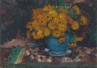 guéridon fleuri by hubert glansdorff