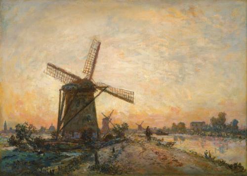 halage en hollande by johan barthold jongkind