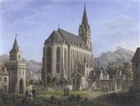 blick auf die liebfrauenkirche in oberwesel by johann erdmann hummel