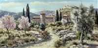provence - les baux - mountainous provencal landscape by lucien potronat