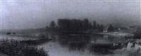 russische weidelandschaft am fluß by pelagia petrowna couriard