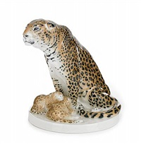 leopard med två ungar by otto pilz