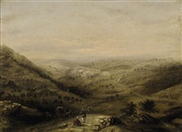 a camel train before jerusalem by william henry bartlett
