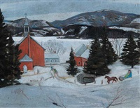 untitled - gatineau hills by frank charles hennessey