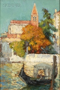 venice in autumn by claude marks