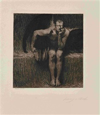 luzifer (2 works, 1 smllr) by franz von stuck
