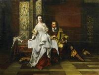 kavalier mit junger dame by franz reichardt