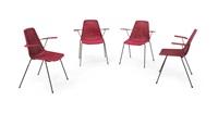 basket quattro sedie impilabili by franco campo