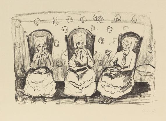 drei alte damen by edvard munch