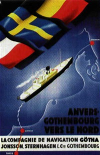 anvers-gothenbourg by posters: tourism