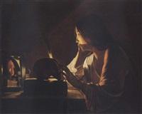 the repentant magdalen by georges de latour
