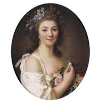 portrait of madame de genlis by jacques antoine marie lemoine