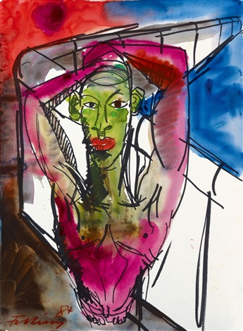 figur an mauer by rainer fetting