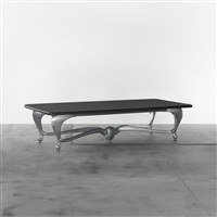 xxl dining table from the d'alba residence, glencoe by jordan mozer