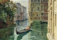 a romantic gondola ride by angelo brombo